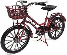 Deko Fahrrad Rot Damen mit Korb ca. 26 cm aus