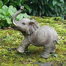 Deko Figur Elefant Afrika Dekoration Elefantenfigur Wildlife Animals Africa IM3800A