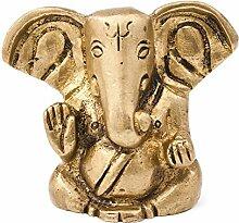 Deko Figur Ganesha aus Messing gold, 4cm, indische
