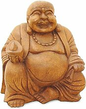 Deko Figur Happy Buddha Figur sitzend, Statue