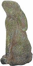 Deko-Figur Hase Schnüffler grün-grau