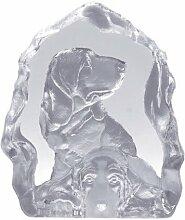 Deko Figur Hunde Glas Kristall Look