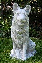 Deko Figur Schäferhund H 41 cm Tierskulptur aus Beton