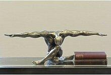 Deko Figur Skulptur CLIFFHANGER 60x20cm antik