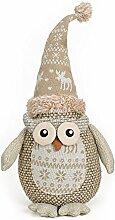 Deko Figur Türsitzer Eule Uhu 42 cm groß, Textil