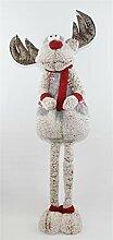 Deko Figur Weihnachtsfigur Stoffelch mit