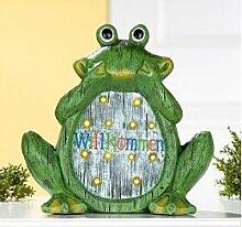 Deko Frosch, 31 cm, grün