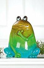 Deko Frosch 'Archipel', 26 cm, grün-blau-braun
