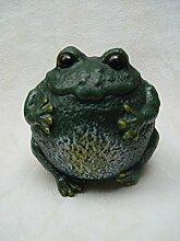 Deko Frosch rund Gartendeko Garten Gusseisen H:18cm