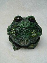 Deko Frosch rund Gartendeko Garten Gusseisen H:8cm
