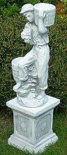 Deko Garten Figur Statue Junge mit Töpfen auf