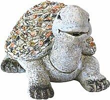 Deko Gartenfigur Schildkröte 35x28x25cm Polystone Steinoptik