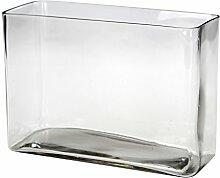Deko Glas-Schale Quader
