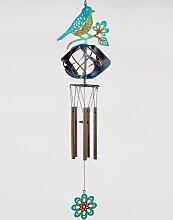 Deko Hänger Windspiel Vogel mit Windrad H. 44cm