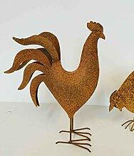 Deko-Hahn Höhe 37 cm Metall echtrost Tierfigur