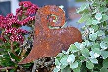 Deko Herz 2 Stück zum Aufhängen Dekoherz Metall Rost Edelrost Deko-Idee Rostfigur Rostdeko rostig Garten Gartendeko Gartendekoration Herbst Metalldeko Weihnachten Weihnachtsgeschenk