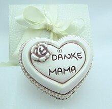 Deko Herz, DANKE MAMA, als Geschenk-Set, in einer