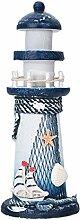 Deko Holz Leuchtturm Mittelmeer Style Hölzerner