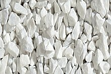 Deko im Trend Bianco Carrara Gartensplitt Granulat Ziersplitt Marmor weiß 8-16 mm 25 kg