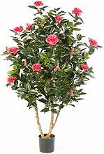 Deko Kamelie Japonica mit 1000 Blättern, 32 Blüten, rosa, 150 cm - Künstlicher Baum / Kunstblume - artplants