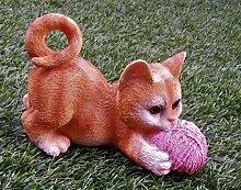 DEKO Katze/Gartenfigur/Katze/Tierfigur/Garten