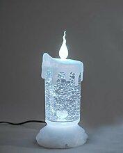 Deko Kerze mit Licht und Wasser, 19 cm, weiß
