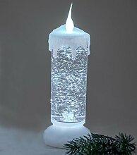 Deko Kerze mit Licht und Wasser, 24 cm, weiß