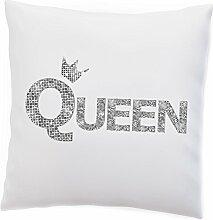 Deko Kissen 'King / Queen' Silber und Gold