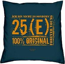 Deko Kissen mit Füllung Motiv: Ich bin nicht 30 witzige Geschenkidee Geschenk zum 30 Geburtstag Größe 40x40cm Farbe: navy-blau und Geburtstags Urkunde