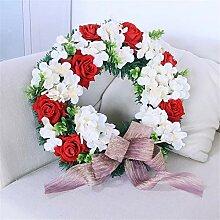 Deko Kranz Wandkranz Rosen-Blumen-Kranz mit