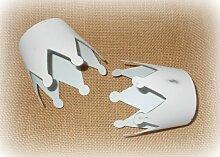 Deko-Krone aus Metall antikweiss 4,5 cm 4er-Set