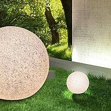 Deko Kugel Leuchte AUSSEN Ø300mm/ Modern/ Beige/ Kunststoff/ Lampe Aussenlampe Aussenleuchte Gartenlampe Gartenleuchte