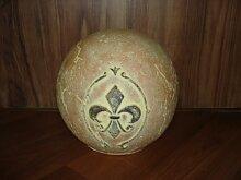 Deko-Kugel orange aus Keramik D18cm mediterran Gartendekoration Dekoration Geschenk