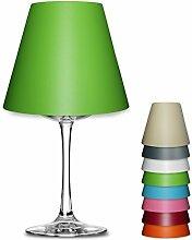 Deko Lampenschirm uni Farben für Weinglas Lampe Teelicht #1131 (rosa)