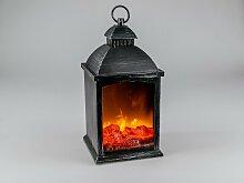 Deko Laterne, Lampe Leuchte Kaminfeuer 20x40cm