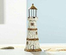 Deko Leuchtturm 'Country Style', 28 cm, beige-braun