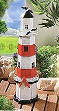 Deko Leuchtturm aus Metall mit Teelicheinsatz
