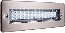 Deko-Light LED  Wandeinbauleuchte  Wall Bar II Außenleuchte, sy mmetrisch, 220-240 V AC, 3,2 W, 3200 K, Edelstahl 763003
