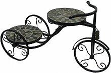 """Deko Metallfahrrad m. 2 Teller 63x25x36cm schwarz Gartendeko """"Top Design"""