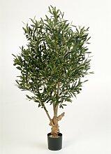 Deko Olivenbaum mit 2288 Blättern, 120 cm - künstlicher Baum / Olivenbaum künstlich - artplants