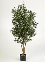 Deko Olivenbaum mit 3432 Blättern, 150 cm - künstlicher Baum / Olivenbaum künstlich - artplants
