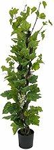 Deko Rebstock mit 120 Blättern, 3 Weinreben, 160 cm - Künstliche Weinrebe / Kunstpflanzen - artplants