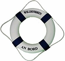 Deko Rettungsring blau/weiß Willkommen an Bord 35cm 6109