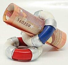 Deko-Rettungsring für Geldgeschenke aus Poly · rot / weiß von CH Trading