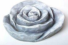 Deko Rose, Fiberclay, grau, 41 cm,
