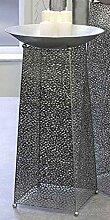 Deko-Säule Purley Metall antik-silber Schale Ø