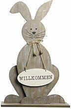 "Deko-Säule ""Wilkommen Hase"" Osterhase"