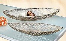 Deko Schale 'Onda', 2-teiliges Set, 59 +