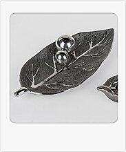 Deko-Schale 40x18cm Baum - silber