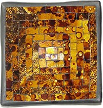 Deko - Schale Glasmosaik eckig 15 cm, kupfer -